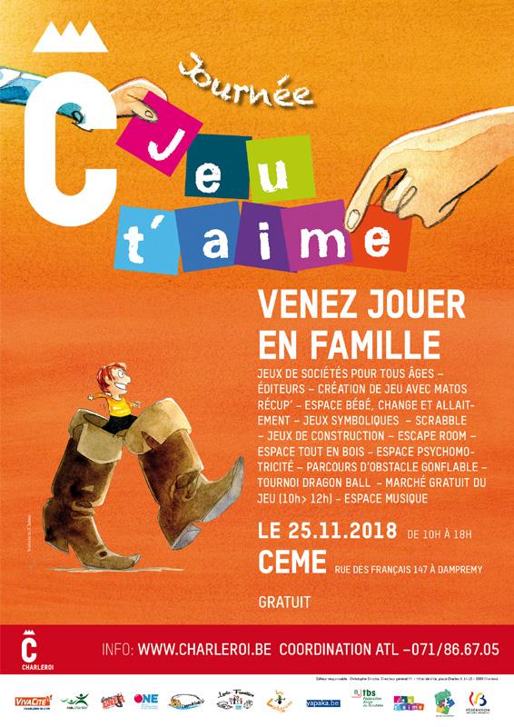 Jeu T'aime : venez jouer en famille @ ceme | Charleroi | Wallonie | Belgique